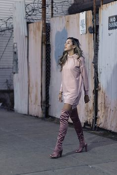 Get this look: http://lb.nu/look/8680227  More looks by Raquel Paiva: http://lb.nu/raquelpaiva  Items in this look:  Topshop Dress, Steve Madden Boots   #chic #romantic #street