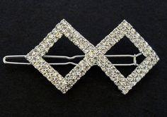 Svatební bižuterie štrasová spona koso 5755-1 | Bižuterie Kozák
