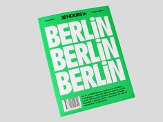 38 Hours Berlin City Guide on Behance