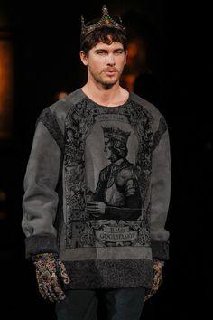 Dolce & Gabbana Fall 2014 Menswear Fashion Show Pop Art Fashion, High Fashion, Fashion Show, Men's Fashion, Mens Fashion Week, Summer Fashion Outfits, Vogue Paris, Beige Suits, Mens Trends