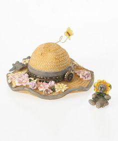 Summer Hat Treasure Box Figurine Set by Boyds #zulily #zulilyfinds