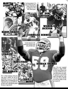3088038c9 Alabama players with great NFL careers. Derrick Thomas