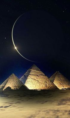 Moon over the pyramids - simply fantastic - Moon over the pyramids – simply f. - Moon over the pyramids – simply fantastic – Moon over the pyramids – simply fantastic – # - Ancient Egypt Art, Old Egypt, Ancient Aliens, Kemet Egypt, Egypt Civilization, Moon Pictures, Pyramids Of Giza, Beautiful Moon, Beautiful Places