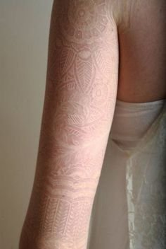 White ink lace tattoo on arm - 60+ Ideas for White Ink Tattoos | Art and Design