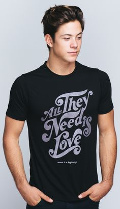 """Inspired by the Beatles release in 1967, """"All You Need Is Love"""" is a sing-worthy reminder that with love, there is nothing that can't be done! Check out this design in our featured collection and support Love Is Louder with each purchase!"""