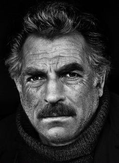 Original pin said this is Tom Selleck. Looks like a Photoshop of Kevin Costner and Tom Selleck morphed though. Tom Selleck, Celebrity Portraits, Black And White Portraits, Interesting Faces, Famous Faces, Gorgeous Men, Movie Stars, Famous People, Actors & Actresses