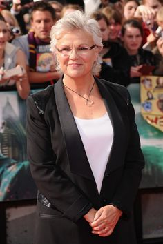 Julie Walters LONDON, ENGLAND - JULY 07: Actress Julie Walters attends the World Premiere of Harry Potter and The Deathly Hallows - Part 2 at Trafalgar Square on July 7, 2011 in London, England. (Photo by Ian Gavan/Getty Images)