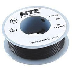 NTE Stranded 24 AWG Hook-Up Wire Black 25 ft. by NTE. $4.56. NTE stranded 24 AWG black hook-up wire is perfect for point-to-point internal wiring applications.