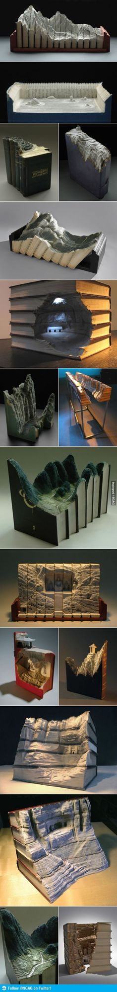 Carving Books Good Books Beautiful And Love Book - Amazing artist carves beautiful designs paper
