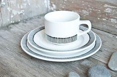 HandbemalteTasse und Teller // hand painted cup and plate by RoomforEmptiness via DaWanda.com
