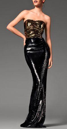 Glitter gown / dolce + gabbana