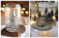 diy-xristougenniatikes-syntheseis-me-xioni Snow Globes, Blog, Christmas, Home Decor, Xmas, Decoration Home, Room Decor, Blogging, Navidad