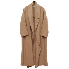 Address Spring Long Coat (€250) ❤ liked on Polyvore featuring outerwear, coats, jackets, coats & jackets, summer coat, long sleeve coat, cotton long coat, beige coat and leather-sleeve coats