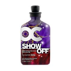 RSun OC Show Off Super Extreme Bronzer - 12 oz. by RSun. $24.55. Tan Factor 50x. Tan Factor 50x Super Extreme Bronzing with Acai OilEnergizing Instant Dark Tanning results are enhanced by the surge of energy and oxygen to your skin during the tanning process. Acai Oil 10x the antioxidant benefits of other fruits. Five Tan Enhancers Highly Potent Tyrosine derivatives help enhance your skins ability to achieve a super dark tan while maximizing UV absorption.