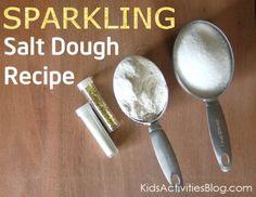"Super easy and ""sparkly"" salt dough recipe for kids"