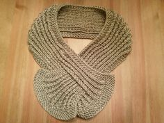 Crochet this cute keyhole scarf with Lion Brand Heartland! Find the free pattern on Ravelry!