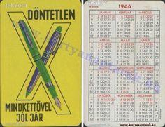 1966 - 1966_0042 - Régi magyar kártyanaptárak