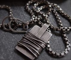 Men's edgy heavyweight rustic wire wrap silver by AryalAmesJewelry, $195.00