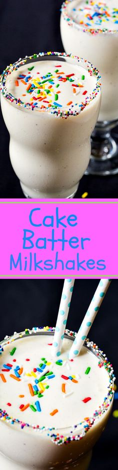Cake Batter Milkshakes- so easy and delicious!