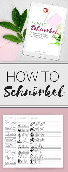 Ultimativer Schnörkel Guide ♥ Groß- und Kleinbuchstaben in JEWEILS 2 Schnörkel-Varianten ♥ freistehende Schnörkel-Elemente