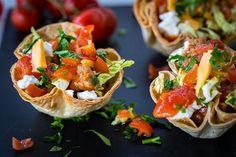 Spice up taco night with something fresh and fabulous—like these Mini Taco Salad Bowls!