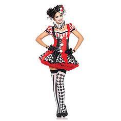 Cosplay Kostumer / Party-kostyme Burlesque/Klovn Halloween Kostumer Rød Lapper Kjole / Hodeplagg / Armbånd / Hansker / HalskjedeHalloween 1201480 2016 – kr.175