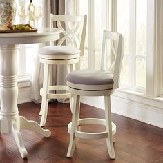 ideas kitchen bar stools with backs swivel White Counter Stools, Counter Stools With Backs, White Stool, Swivel Counter Stools, White Counters, Counter Height Bar Stools, Kitchen Counter Stools, Bar Counter, Kitchen Cabinets