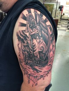 St. Michael Tattoo Finished