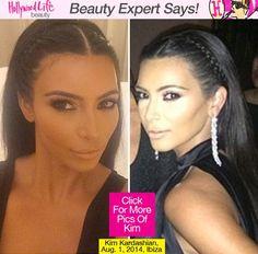 Kim Kardashian's Hair At Givenchy Birthday — Braids At Riccardo Tisci's Party - Hollywood Life