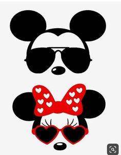 Minnie and Mickey Disney Diy, Disney Crafts, Disney Trips, Mickey Mouse Shirts, Mickey Minnie Mouse, Disney Mickey, Minnie Mouse Cricut Ideas, Mickey Mouse Stencil, Vinyl Crafts