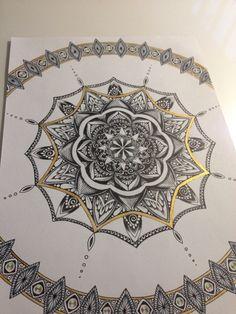 Mandala von Silberstreif