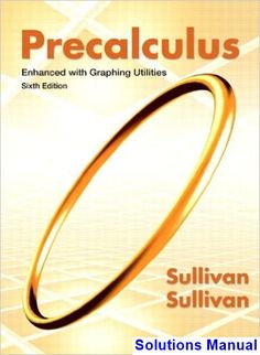 Multivariable calculus 7th edition pdf download httpwww solutions manual for precalculus enhanced with graphing utilities 6th edition by sullivan fandeluxe Image collections