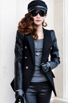Standout PU Sleeve Coat