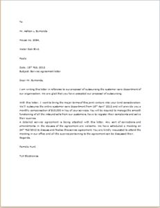 Agreement Letter DOWNLOAD at http://www.templateinn.com/40-official-letter-templates-for-everyone/