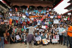 The BIGGEST CLIMATE CHANGE March Ever! ; ) Sunday 2014-09-21 KATHMANDU, Nepal (pix via Avaaz) • worldwide mobilisation: 675k! • other cities: NYC (80 city blocks!! up to Wall St) / Paris / Berlin / London / Melbourne / Delhi etc. • goal of movement: meet like this every few months till crucial Paris climate summit in Feb 2016...