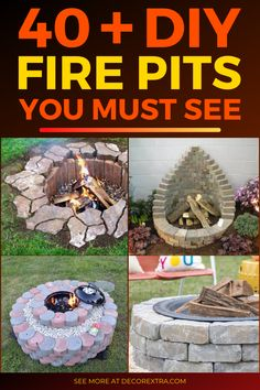 Find easy do it yourself outdoor fire pit projects and ideas for your garden. Cool Fire Pits, Diy Fire Pit, Fire Pit Backyard, Backyard Games, Backyard Ideas, Landscaping Ideas, Fire Pit Designs, Outdoor Fire, Diy Patio