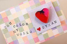 Heart Shaped Crayon Valentines {DIY Tutorial} - Simmworks Family Blog