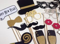 New Years Photo Booth Props . New Year Photo by ThePropMarket