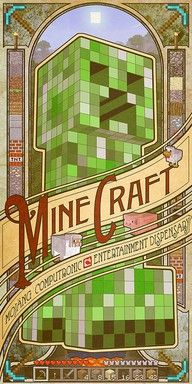 """Buy Minecraft Computronic Wall Poster online and save! Minecraft Computronic Wall Poster Minecraft is a sandbox indie game originally created by Swedish programmer Markus """"Notch"""" Persson and later develop. Minecraft Legal, Minecraft Cool, Minecraft Kunst, Minecraft Crafts, Minecraft Houses, Minecraft Images, Minecraft Drawings, Creeper Minecraft, Mine Craft Party"""