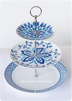 Handmålat kakfat – Hand painted cake stand