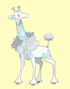 050 - WINTRAFFY - The Boreal Pokemon - TYPE: Ice ABILITY: Snow Cloak HIDDEN: Clear Body HABITAT: Taiga GENDER: 40% Males / 60% Females DESCRIPTION: Wintraffy the pokemon giraffe, found in East Maoh...