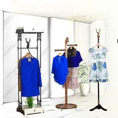 Clothing Store Displays, Fashion Design For Kids, Coat Hanger, Living Room Bedroom, Wardrobe Rack, Children, Clothes, Home Decor, Young Children