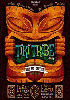 Tiki Tribe - back in Paris for 2 months - Page 3 Tiki Hawaii, Hawaiian Tiki, Tiki Art, Tiki Tiki, Tiki Tattoo, Tiki Totem, Tiki Lounge, Vintage Tiki, Homemade Art