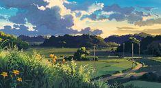 "ghibli-collector: ""Cloud Strewn Skies Of My Neighbor Totoro - Art Director Kazuo Oga "" Studio Ghibli Art, Studio Ghibli Movies, Landscape Art, Landscape Paintings, Landscapes, Studio Ghibli Background, Anime Scenery Wallpaper, Environment Concept Art, Environmental Art"