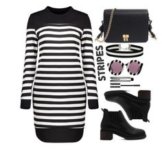 """""""Stripes"""" by simona-altobelli ❤ liked on Polyvore featuring Miss Selfridge, House of Holland and Givenchy"""
