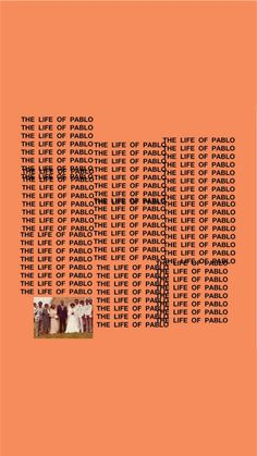 The Life of Pablo cover art iPhone wallpaper   Created by Joel Osuna