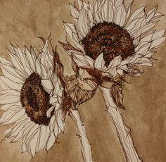 Indoor Gardening Quick, Clean Up, And Pesticide Free - Make Your Own Rachel Lockridge. Botanical Drawings, Botanical Illustration, Botanical Art, Nature Sketch, Sunflower Art, Pen Art, Art Sketchbook, Paper Artwork, Creative Art
