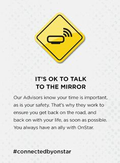 You always have an ally with our OnStar Advisors! onstarconnections.com | #onstar #advisors #safety #connectedbyonstar