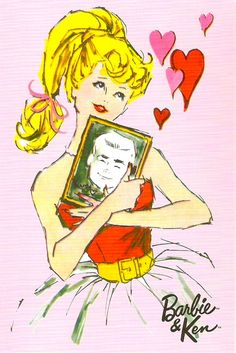 bought this cute pack of cards from the online Barbie collector shop and really loved this one with the retro artwork! Happy Valentine's Day everyone! My Funny Valentine, Valentines, Barbie Drawing, Barbie Images, Barbie Movies, Barbie Stuff, Barbie Party, Retro Illustration, Vintage Barbie Dolls