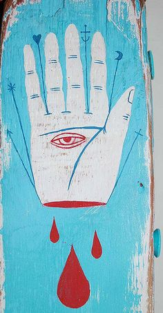 Some hands predict futures. -New Work Tarot hand |  Luke Jinks